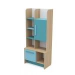 Книжный шкаф Акварели бирюзовый