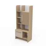 Книжный шкаф Акварели коричневый