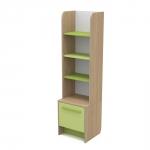Книжный шкаф Акварели зеленый