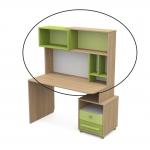 Надстройка к письменому столу Акварели зеленый