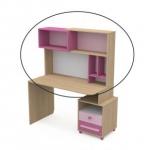 Надстройка к письменому столу Акварели розовый
