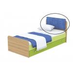 Мягкая накладка на кровать Кв Акварели зеленый