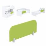 Защитная боковина к кровати Акварели зеленый