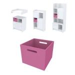Ящик для хранения Акварели розовый