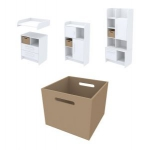 Ящик для хранения Акварели коричневый