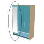 Зеркало к шкафу Акварели бирюзовый