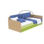Мягкая накладка к диванчику Кв Акварели зеленый