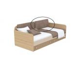 Мягкая накладка к диванчику Кв Акварели коричневый