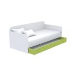 Ниша выдвижная к диванчику большая Кв Акварели зеленый