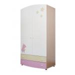 ROSE DREAMS Шкаф подростковый ваниль/розовый/беж