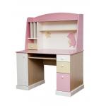 ROSE DREAMS Стол компьютерный с надстройкой ваниль/розовыйбеж