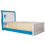 SEA&SKY Кровать подростковая  ваниль/голубой/беж