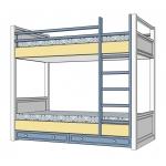 SEA&SKY Кровать двухъярусная ваниль/голубой/беж