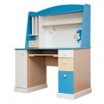 SEA&SKY Стол компьютерный с надстройкой ваниль/голубой/беж