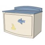 SEA&SKY Ящик для игрушек ваниль/голубой/беж