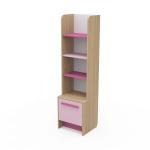 Книжный шкаф Акварели розовый