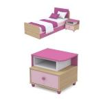 Тумба прикроватная Акварели розовый