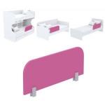 Защитная боковина к кровати Акварели розовый