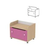 Комод для игрушек Акварели розовый