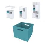Ящик для хранения Акварели бирюзовый