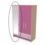 Зеркало к шкафу Акварели розовый