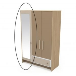 Зеркало к шкафу Акварели коричневый