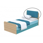 Мягкая накладка на кровать Кв Акварели бирюзовый
