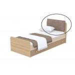 Мягкая накладка на кровать Кв Акварели коричневый